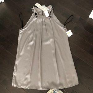 BNWT Dressy Silver Top